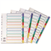 Concord Subject Dividers Polypropylene Europunched 10-Part A4 Assorted Ref 06901