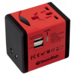 Swordfish 40247 Indoor Black, Red power adapter/inverter