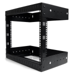 "StarTech.com 8U 19"" Wall Mount Network Rack - Adjustable Depth 12-20"" 2 Post Open Frame Server Room Rack for AV/Data/ IT Communication/Computer Equipment/Switch w/Cage Nuts & Screws"