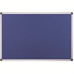 Bi-Office Fire Retardant Notice Board insert notice board Indoor Blue Aluminium