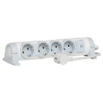C2G 80825 Indoor 4AC outlet(s) 3m Grey,White power extension