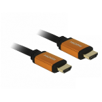DeLOCK 85729 HDMI cable 2 m HDMI Type A (Standard) Black,Gold