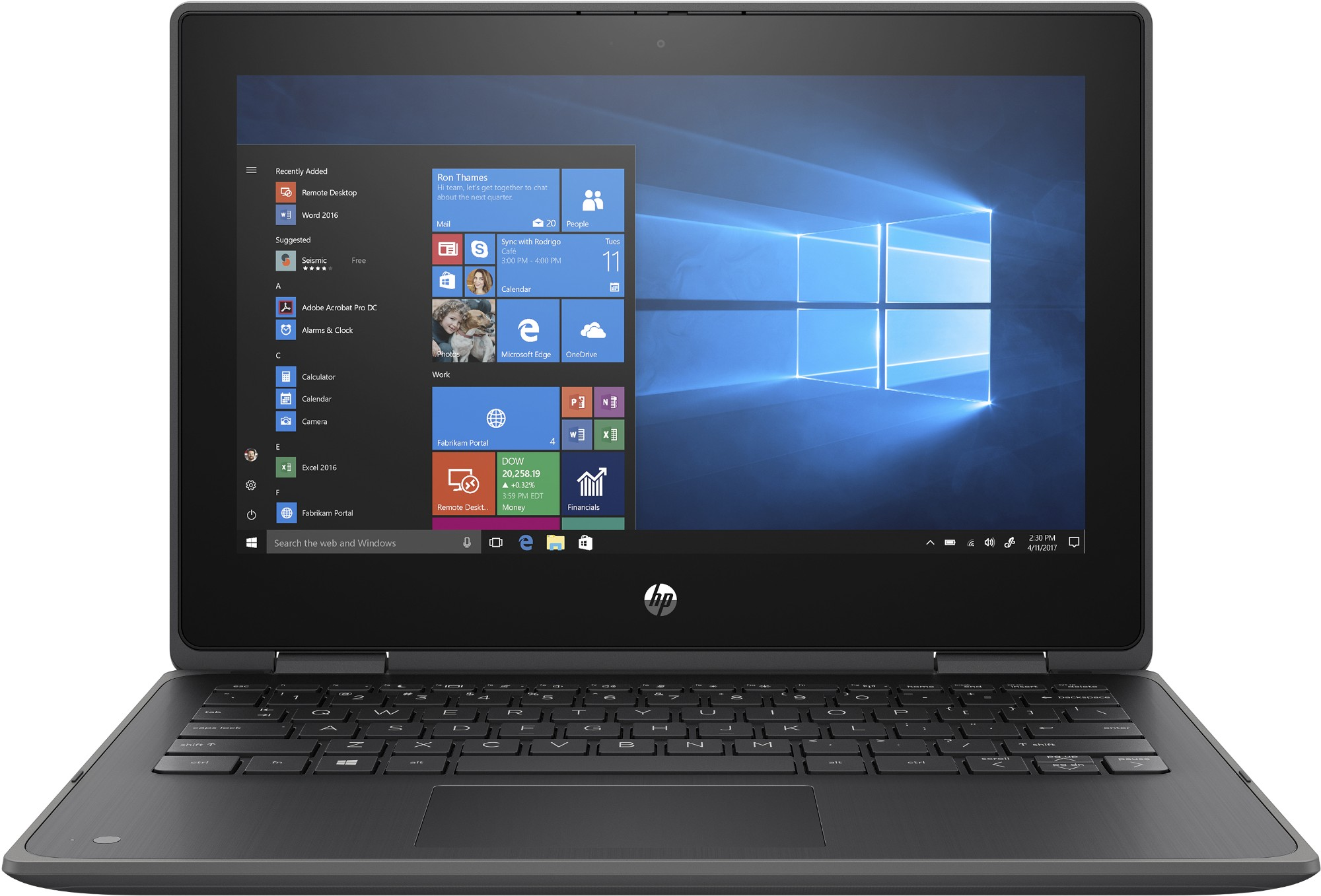 "HP ProBook x360 11 G5 EE Hybride (2-in-1) Zwart 29,5 cm (11.6"") 1366 x 768 Pixels Touchscreen Intel® Pentium® Silver 4 GB LPDDR4-SDRAM 128 GB SSD Wi-Fi 5 (802.11ac) Windows 10 Pro"