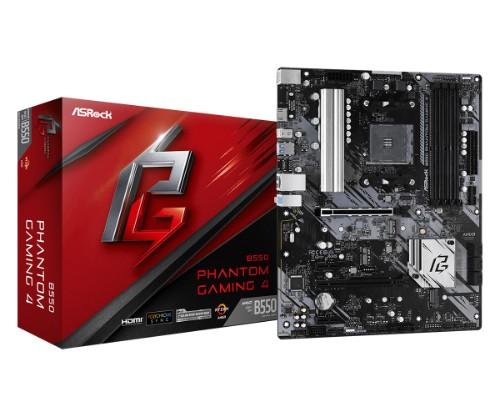 Asrock B550 Phantom Gaming 4 AMD B550 Socket AM4 ATX