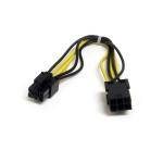 StarTech.com 20cm 6-pins PCI Epress Verlengkabel Voeding