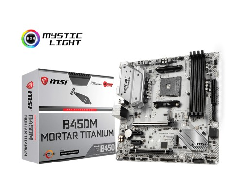 MSI B450M MORTAR TITANIUM Socket AM4 AMD B450 micro ATX