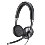 Plantronics C725 Head-band Binaural Wired Black mobile headset
