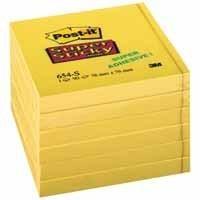 Post-It Super Stick Ultra Yellow (Pack 6) self-adhesive label