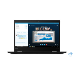 Lenovo ThinkPad X390 Yoga Hybrid (2-in-1) Schwarz 33,8 cm (13.3 Zoll) 1920 x 1080 Pixel Touchscreen Intel® Core™ i7 der achten Generation 8 GB DDR4-SDRAM 256 GB SSD Wi-Fi 5 (802.11ac) Windows 10 Pro