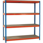 VFM Orange/Zinc 1500x600x2000mm Heavy Duty Painted Shelving Unit