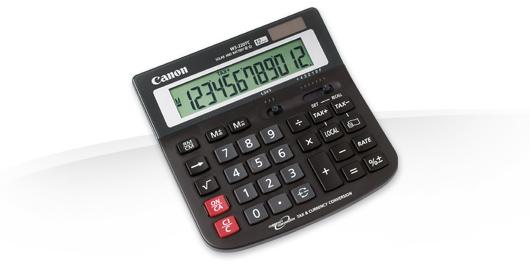 Canon WS-220 TC Desktop Basic Black calculator