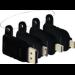 Vision TC-MULTIHDMI/BL adaptador de cable mDP/DP/mHDMI/USB-C HDMI Negro