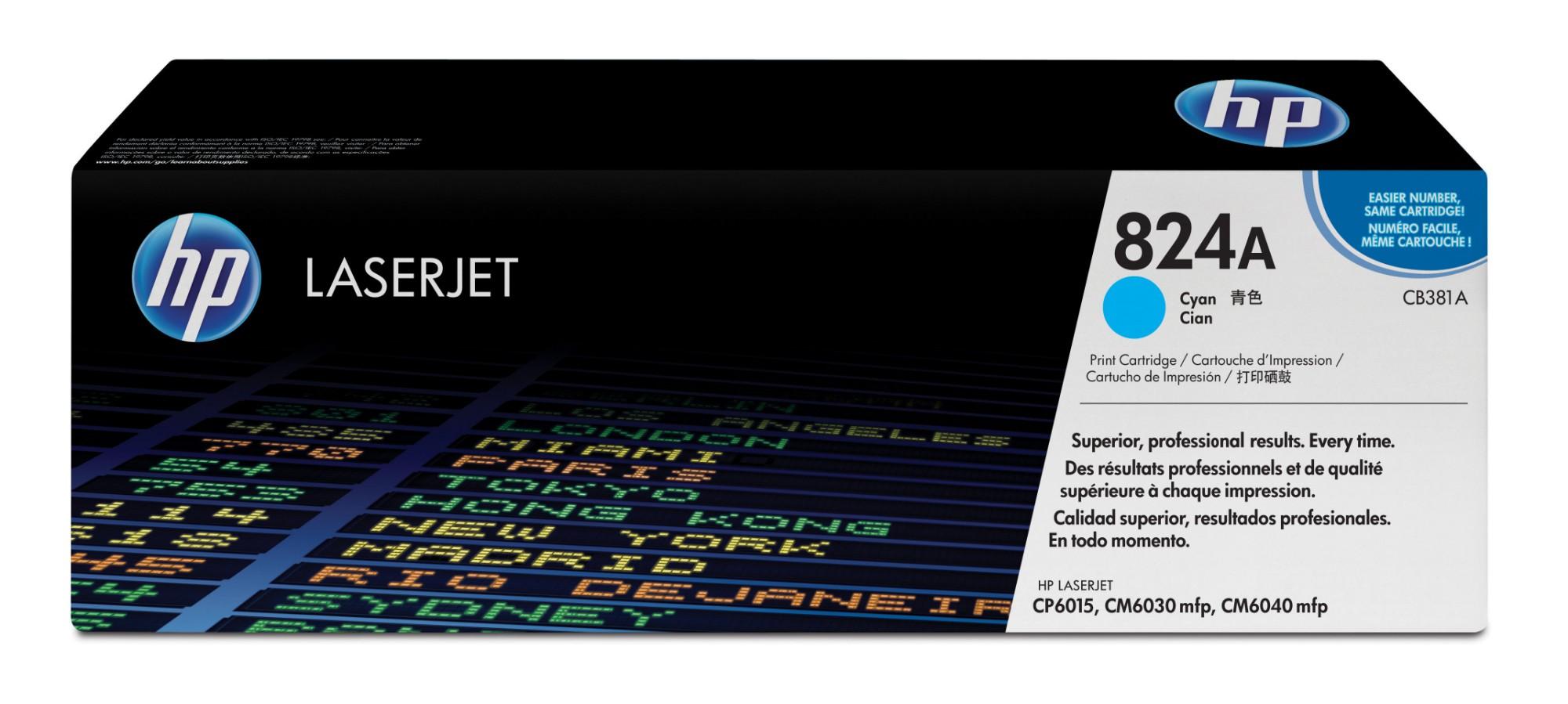 HP 824A Origineel Cyaan 1 stuk(s)