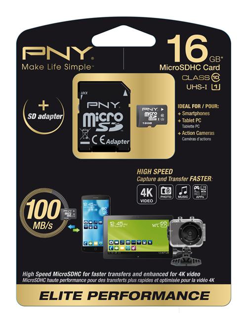 PNY 16GB MicroSD 16GB MicroSD UHS Class 10 memory card