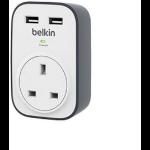 Belkin BSV103AF surge protector White 1 AC outlet(s)