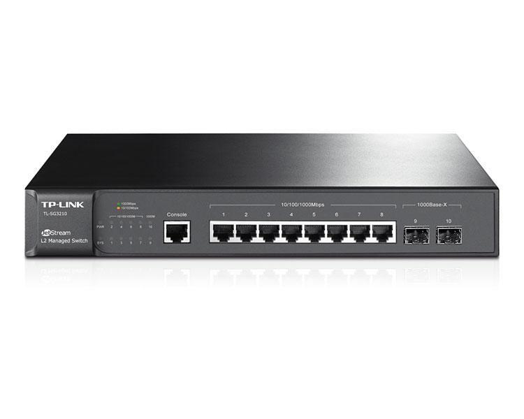 TP-LINK T2500G-10TS switch Gestionado L2/L3/L4 Gigabit Ethernet (10/100/1000) Negro 1U