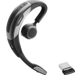 Jabra Motion UC+ MS mobile headset Monaural Ear-hook Black, Silver Wireless