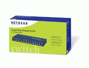 Netgear ProSafe 16 port 10/100 desktop switch Unmanaged