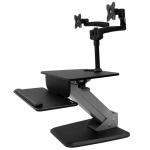 StarTech.com BNDSTSDUAL multimedia cart/stand Black Flat panel Multimedia stand