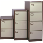 Jemini 4 Drawer Filing Cabinet Coffee/Cream KF03002
