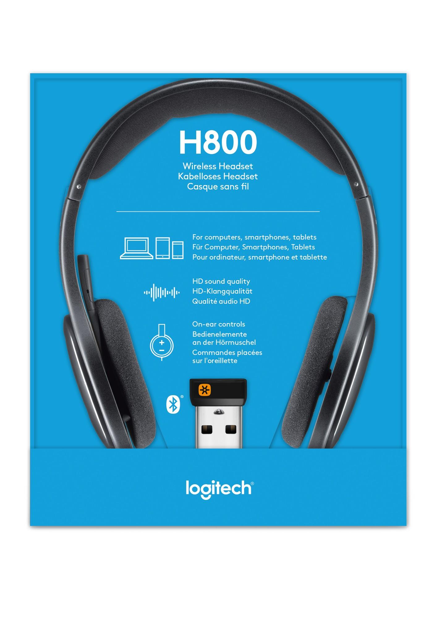 Logitech H800 Binaural Head Band Black Headset