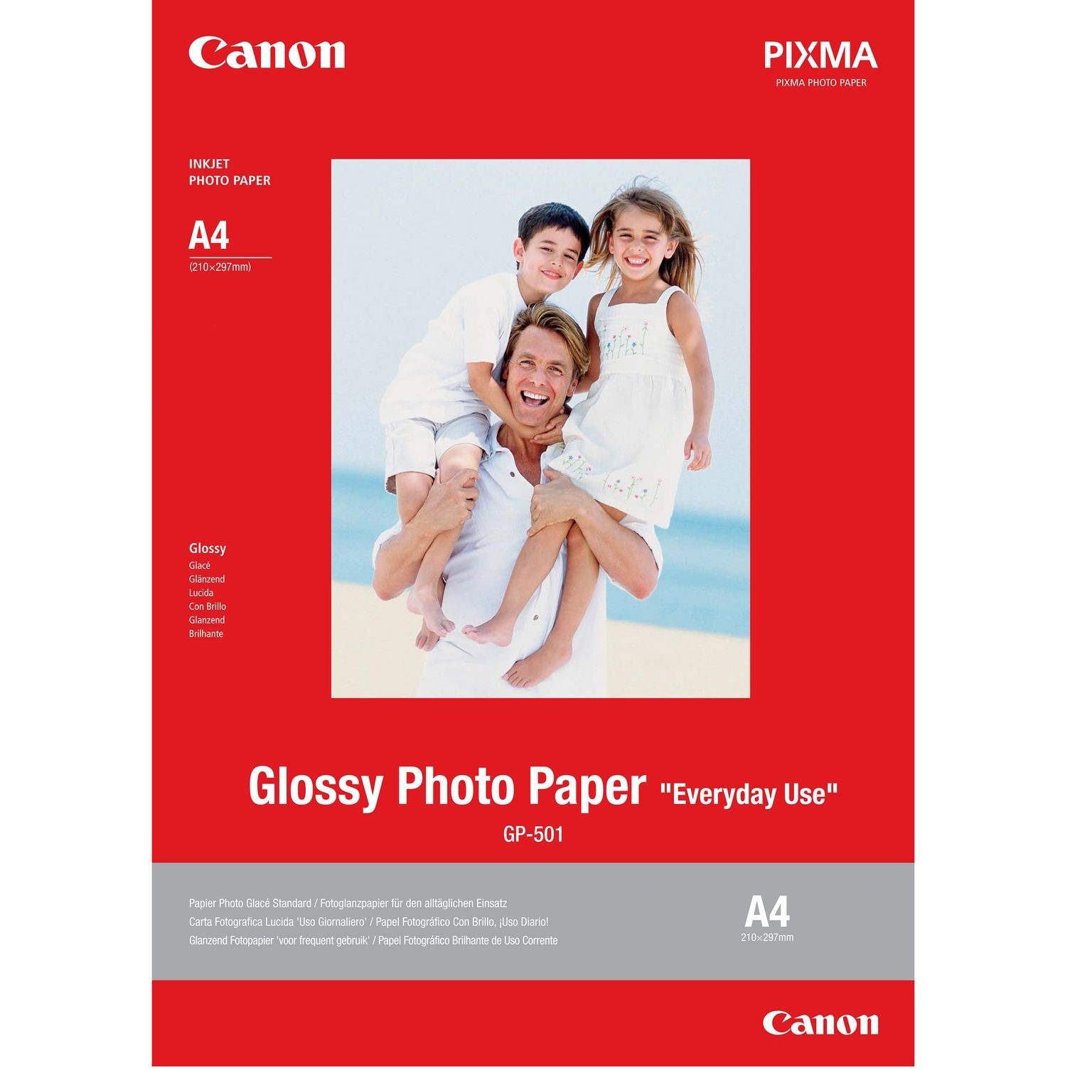 Canon GP-501 papel fotográfico Brillo A4