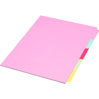Concord DIVIDER A4 5PART REINF ASSORTED