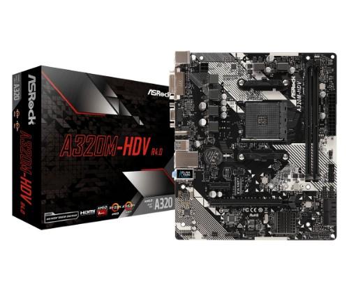 Asrock A320M-HDV R4.0 motherboard Socket AM4 Micro ATX AMD Promontory A320