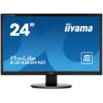 "iiyama ProLite E2482HD-B1 24"" Full HD TN Matt Black Flat computer monitor LED display"