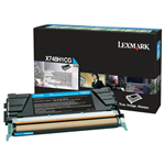 Lexmark X748H1CG Toner cyan, 10K pages