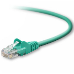 """Belkin RJ45 Cat5e Patch Cable, Snagless Molded, 7.6m networking cable Green 299.2"""" (7.6 m)"""