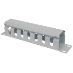 """Intellinet 10"""" Cable Management Panel, 1U, Covered, Grey"""