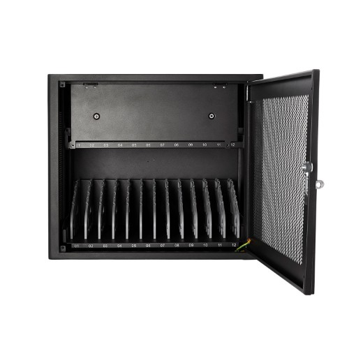 V7 Charging Station for 12 Mobile Computers - Secure, Store and Charge Chromebooks, Notebooks and Tablets – UK