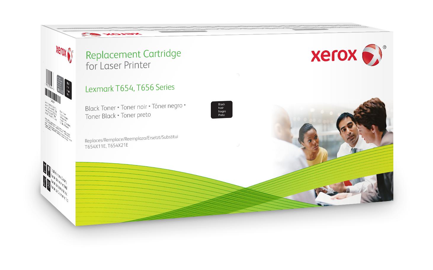 Xerox Cartucho de tóner negro. Equivalente a Lexmark T654X11E, T654X21E. Compatible con Lexmark T654, T656