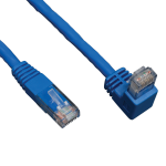 Tripp Lite Cat6 Gigabit Molded Patch Cable (RJ45 Right Angle Down M to RJ45 M) - Blue, 3.05 m