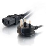 C2G Cable de alimentación europeo 16 AWG de 2 metros (IEC320C13 a BS 1363)