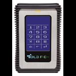 DataLocker DL3 FE 500GB 500GB Black,Stainless steel external hard drive