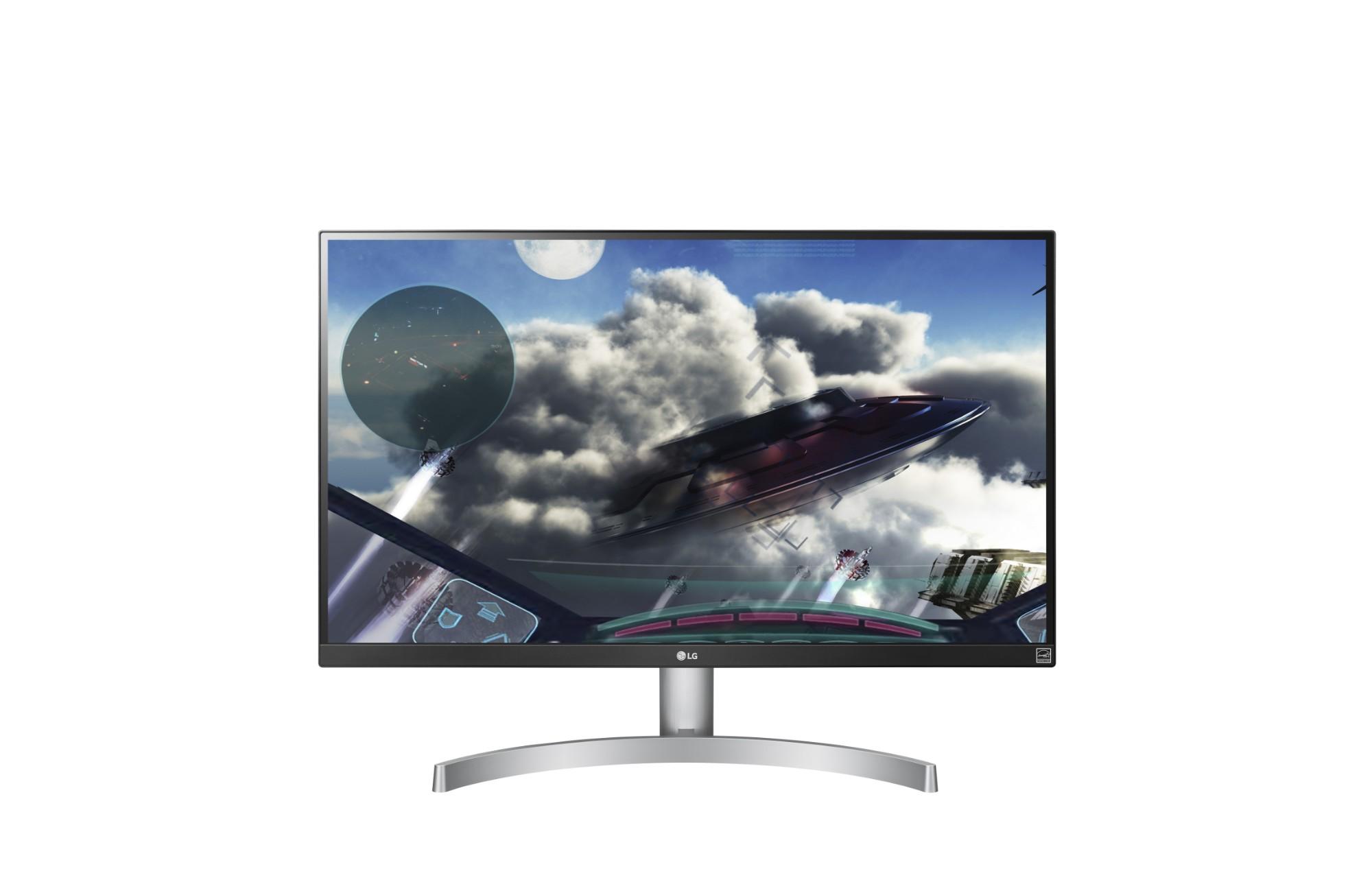 "LG 27UK600-W LED display 68.6 cm (27"") 4K Ultra HD Flat Black,Silver,White"