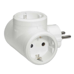C2G 80882 Type F Type F White power plug adapter