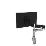 R-Go Tools R-Go Caparo 4 D2, Circular Single Monitor Arm, Desk Mount, Gas Spring, 3-9kg, Black-Silver, Low Carbon Footprint