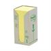 Post-It 654-1T Yellow 16pc(s) self-adhesive label