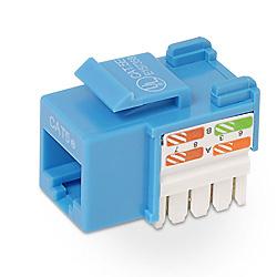 Belkin Cat5e Keystone Jack Blue cable interface/gender adapter