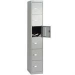 Bisley Six Door Vertical Locker Grey