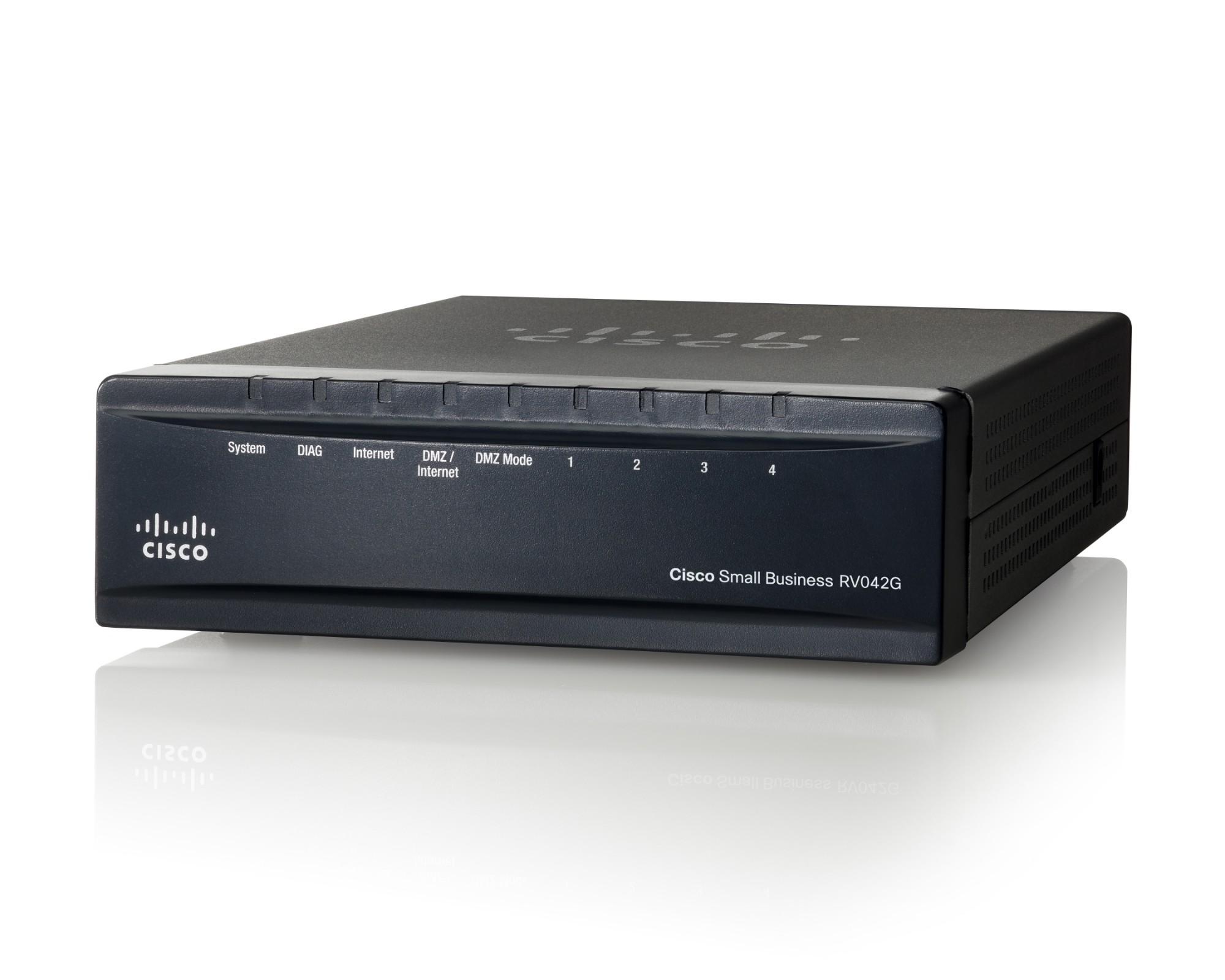 Cisco RV042G bedrade router Gigabit Ethernet Zwart