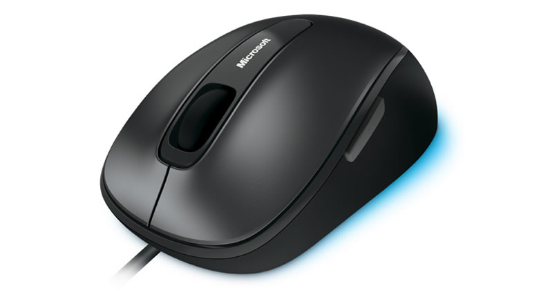 Microsoft Comfort Mouse 4500 USB Optical 1000DPI Ambidextrous Black mice