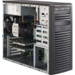 Supermicro 732D4-903B Mid-Tower 900W Black Workstation Case with 900W 80PLUS Gold Power Supply