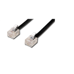 Microconnect 6P4C/RJ11, 3m telephony cable Black