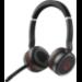 Jabra Evolve 75 UC Stereo Auriculares Diadema Negro, Rojo
