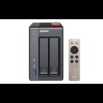 QNAP TS-251+ NAS Tower Ethernet LAN Black J1900 TS-251+-2G/12TB-N300