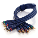 C2G 1m Velocity Component Video/RCA-Type Audio Combination Cable componente ( YPbPr) cable de vídeo 5 x RCA Negro